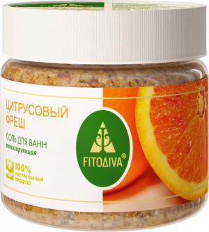"""""""Цитрусовый фреш"""" соль для ванн тонизирующая 400 г"""