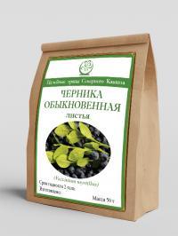 Черника обыкновенная (листья) 50 г